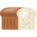 bread slices, breakfast, sandwich bread, toast, white bread