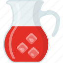 beverage, cold water, homemade drink, juice, natural drink icon