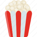 corn cob, crackers, maize, popcorn, snack food icon