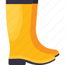 ankle shoes, gum boots, high boots, long boots, winter shoes icon