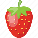 healthy food, fresh strawberry, porous fruit, red berries, strawberry