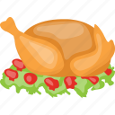 cooked meat, grilled chicken, roasted chicken, traditional cuisine, whole chicken icon
