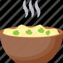 creamed peas, green creamy salad, healthy diet, legume, vegetable salad icon