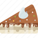 birthday cake, cake bite, cake pastry, cake slice, chocolate cake icon