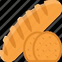 bread, bread slices, breadstick, long bread, toast icon