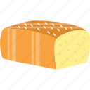 bread, bread loaf, bread slices, toast, whole wheat bread icon