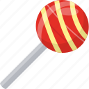 candy stick, kids cuisine, lollipop, rattle pop, sweet icon