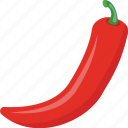 chili pepper, chilli, hot chili, red chili, vegetable icon
