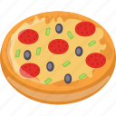 fast food, italian cuisine, italian traditional dish, pizza, restaurant meal icon