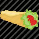 breakfast, energy food, healthy breakfast, morning meal, tortilla wrap icon