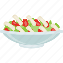diet food, healthy food, nutritious diet, salad, tuna salad icon