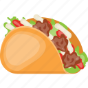 arabian wrap, chicken wrap, junk food, sandwich, shawarma icon