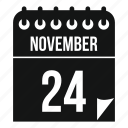 calendar, day, holiday, november, thanksgiving, turkey icon