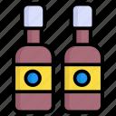 beer bottles, drink, alcohol, bottle, wine, beverage, party