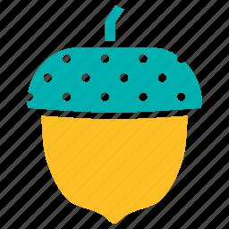acorn, autumn, beech, oak, seed, tree icon