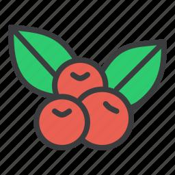 cherries, cherry, fruit, thanksgiving icon