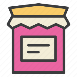 bottle, cranberry, jam, sauce, sweet, thanksgiving icon