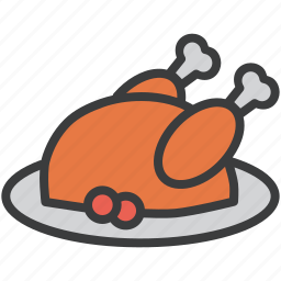 cranberries, dinner, feast, meat, thanksgiving, turkey icon