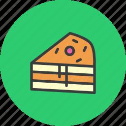 cake, cranberry, dessert, pie, slice, sweet, thanksgiving icon