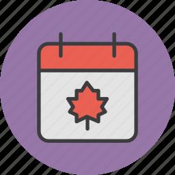 autumn, calendar, date, thanksgiving icon