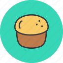 bagel, bake, cake, dessert, pastry, scone, thanksgiving icon