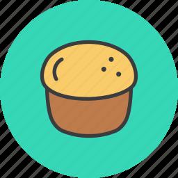 bagel, bake, cake, dessert, pastry, scone, thanksgiving icon