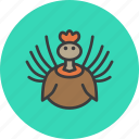 bird, thanksgiving, turkey icon