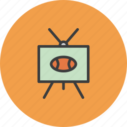 football, game, rugby, sports, television, thanksgiving, tv icon