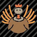bird, thanksgiving, turkey