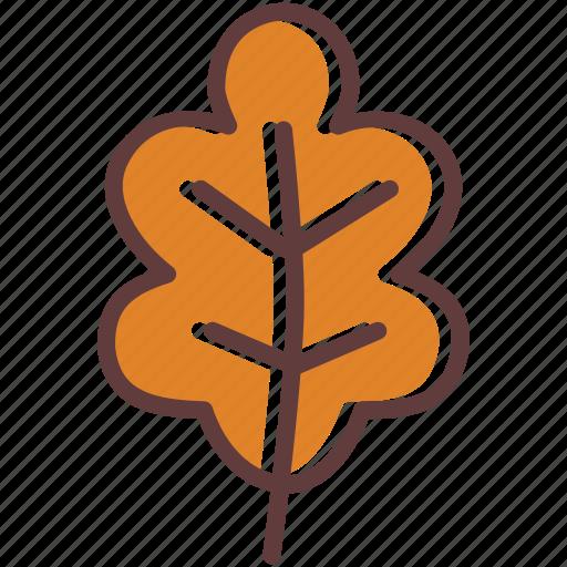 autumn, dry, leaf, leaves, oak, tree icon