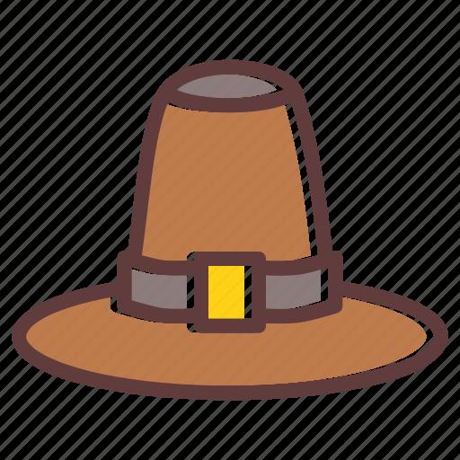 cap, hat, pilgrim, thanksgiving, tradition icon