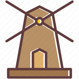 country, electricity, energy, power, side, windmill icon