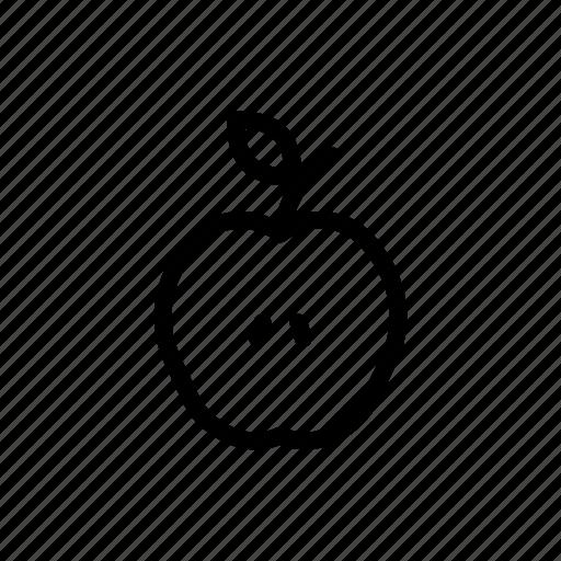 apple, food, fruit, half, health, slice, sliced icon