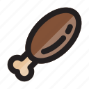 chicken, food, fried, meal, meat, thanksgiving, turkey icon