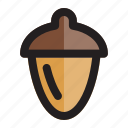 acorn, hazelnut, nut, nuts, seed, thanksgiving, walnut icon