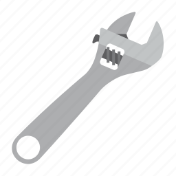 adjustable, tool, tools, wrench icon