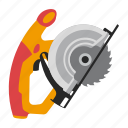 circular, saw, tool, tools icon