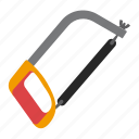 hacksaw, tool, tools, work icon