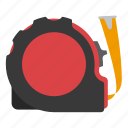 equipment, measuring, tape, tool icon