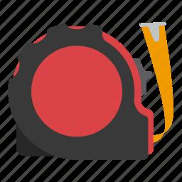 equipment, measuring, tape, tool icon