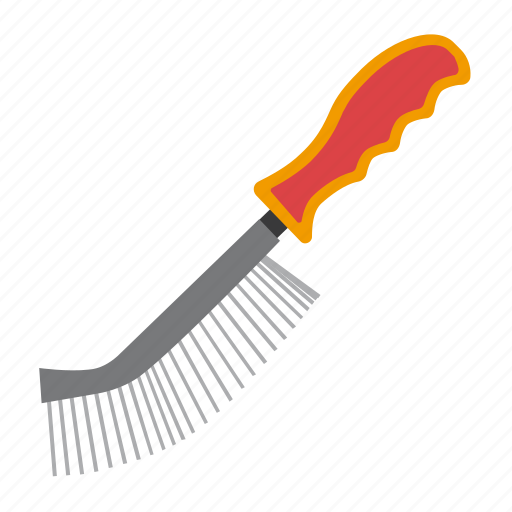 brush, metal, tool, tools icon
