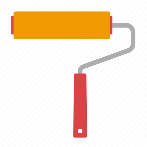 paint, roller, tool, work icon
