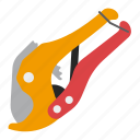 plasticpipes, shears, tool, tools icon