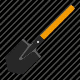 shovel, tool, tools, work icon