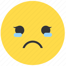 cry, emoji, emoticon, emotions, expression, face, girl icon