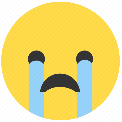 cry, emoji, emoticon, emotions, expression, face, sad icon