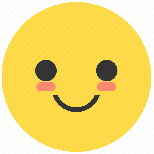 blush, emoji, emoticon, emotions, expression, face, smile icon
