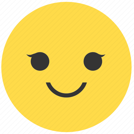 emoji, emoticon, emotions, expression, face, girl, smile icon