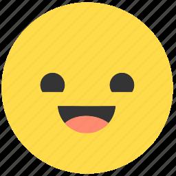 emoji, emoticon, emotions, expression, face, happy, smile icon