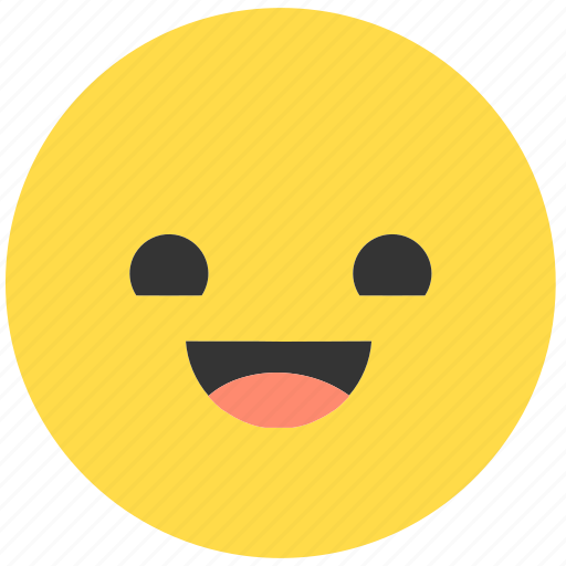 emoji, emoticon, emotions, expression, face, happy, smile icon